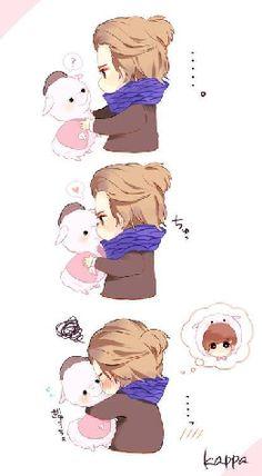 kris and alpacas   EXO-M Duiz Zhang Kris and his Alpaca [fanart] _____