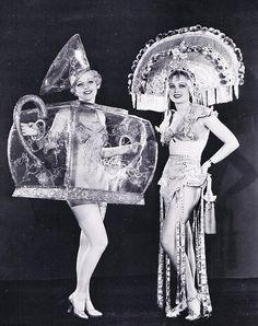 ♕ Vintage Costume Variations ♕  Ziegfeld girls. The one on the left looks like a tea pot!