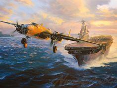 Over Free Art wallpaper - Landscape Aircraft - - 30 wallpaper in Dream Wallpaper. Airplane Painting, Airplane Art, Fighter Aircraft, Fighter Jets, Fighter Pilot, Ww2 Aircraft, Doolittle Raid, Aviation Art, Military Art