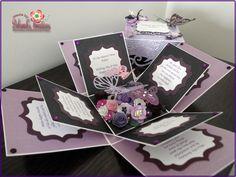 Purple & Black Birthday Exploding Box Card