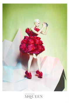Alexander McQueen fall/winter 2012-2013 ad campaign feautring Suvi Koponen. Shot by David Sims.