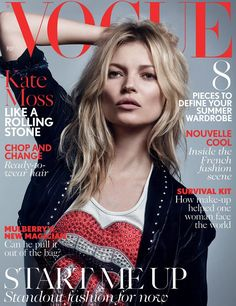 Kate Moss Covers Vogue UK May 2016