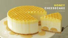 노오븐!🍯 허니 치즈케이크 만들기 : No-Bake Honey Cheesecake Recipe : はちみつレアチーズケーキ | Co...
