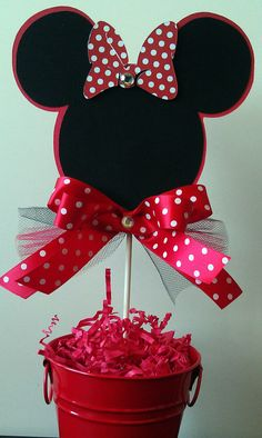 MINNIE MOUSE Red and Black Birthday Party FAVOR Box Set of 10. $22.00, via Etsy.