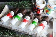 Easy Marshmallow Snowman Treats | A fun idea for easy entertaining with #KraftEssentials
