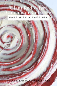 Red Velvet Cake mix is transformed into a giant and soft Red Velvet Cinnamon Roll Cake, using rapid rise yeast! The perfect addition to your Valentine's Day breakfast holiday table! Red Velvet Desserts, Red Velvet Recipes, Red Velvet Cake Mix, Red Cake, Cinnamon Roll Dough, Cinnamon Rolls, Cake Mix Recipes, Dessert Recipes, Snacks Recipes