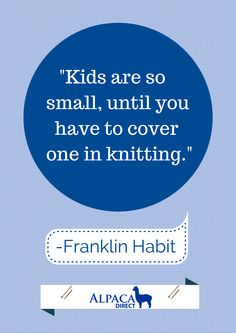 Click for a link to Franklin Habit's knitting cartoon book. www.LKnits.com