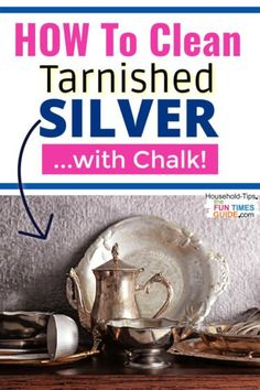 If you don't already have a product to clean tarnished silver, or you're just looking for a simple (and cheap) way to polish your silver... try chalk! See how well it works here. House Cleaning Tips, Diy Cleaning Products, Cleaning Hacks, Cleaning Tarnished Silver, Cleaning Silver, Removing Tarnish From Silver, Real Simple Magazine, How To Clean Silver, Glass Coffee Cups