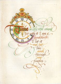 I love this piece by my talented friend Holly Monroe. She does the most graceful and beautiful flourishes! Check out her website: www.hollymonroe.com.