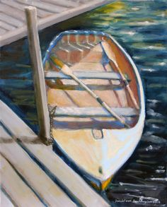 Islesford Dinghy, oil on linen, 20 x 16 inches, 2012