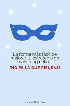 La forma más fácil de mejorar los resultados de tu estrategia de marketing online (no es la que piensas) Pink Bird, Community Manager, Brand Identity, Digital Marketing, Tips, Blog, Management, Poster, Victoria