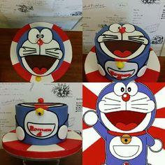 Doraemon - Cake by Dulce Victoria Doraemon Cake, 7th Birthday, Frosted Flakes, Victoria, Box, Snare Drum, Boxes