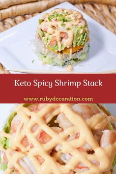 Keto Spicy Shrimp Stack #keto #spicy #shrimp