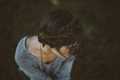 gorgeous dark hair in braids #braids #dark hair #updos #classy