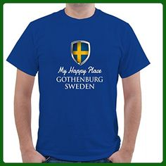 MY HAPPY PLACE SWEDEN GOTHENBURG Unisex Short Sleeve T Shirt - Cities countries flags shirts (*Amazon Partner-Link)