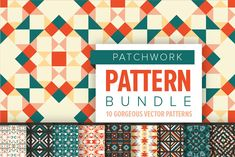 (Super Fun) Geometric Patterns | Pre-Designed Illustrator Graphics ~ Creative Market Pattern Images, Vector Pattern, Pattern Design, Geometric Shapes, Geometric Patterns, Tile Patterns, Header Image, Patchwork Patterns, Graphic Design Projects