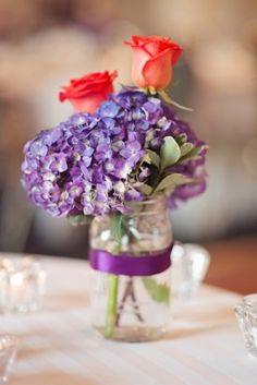 Purple and Red Wedding Flowers 275x412 Multicultural Virginia Wedding Reception: Jenni + Razor