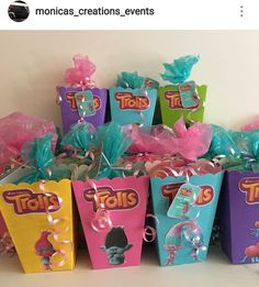 Trolls Theme Popcorn Boxes