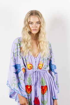 """""""Strange Magic"""" Women's embroidered duster - Lavender Fillyboo - Boho inspired maternity clothes online, maternity dresses, maternity tops and maternity jeans. Maternity Jeans, Maternity Tops, Maternity Dresses, Maternity Clothes Online, Strange Magic, Magic Women, Lavender, Cover Up, Boho"""