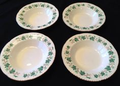 "Liberty Ivy Rim Soups, 8¼"". $14.95/set of 5 at heatherscottage on ebay, 6/20/15"