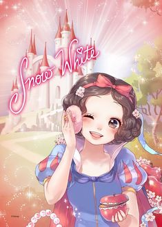 Disney Japan :) Snow White. Pretty.