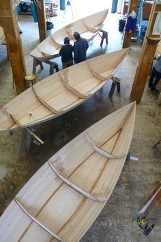 Wooden boat school