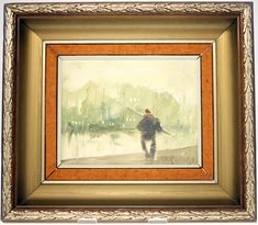 ANTIQUE CARLO KNUD HANSEN 'FISHERMAN' OIL PAINTING-FRAMED-APPROXIMATELY 80 YEARS OLD-FREE POSTAGE WORLDWIDE