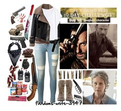 Day 18: Carol and Rick (because i couldnt just pick one of them) by fandoms-unite-3947 on Polyvore featuring H&M, rag & bone, Steve Madden, ASOS, Maxwell Snow, Bodum and Laundry