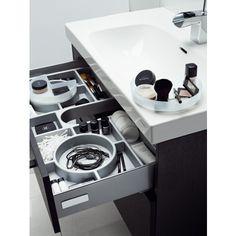 Tvättställsskåp Svedbergs Forma 60x45 Svartbetsad Ek 2 Lådor Eluttag - Badrumsmöbler - Badrum - Golvpoolen