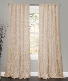 Bring a touch of sophistication to any room with the addition of this window curtain. The textured embroidery will add a little elegance to a living room and is sure to be noticed by friends and family.