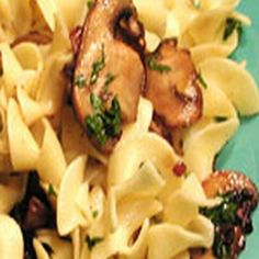 Egg Noodles with Mushrooms vegitarian