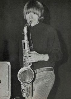 Brian Jones playing the saxophone. A master of all instruments at his time.