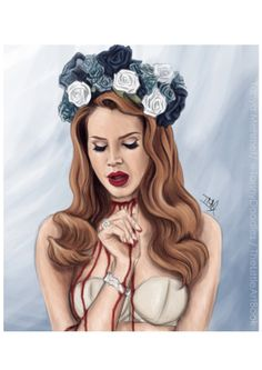 Lana Del Rey Born To Die Print A4 by TheLittleArtBook on Etsy, £14.50