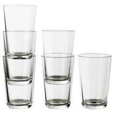 IKEA - IKEA 365+, Glass, 15 oz, , Also suitable for hot drinks.Made of tempered glass, which makes the glass durable and extra resistant to impact.The glass has a simple tall and straight shape which makes it perfect for all types of cold drinks, such as carbonated cocktails with a lot of ice.Can be stacked inside one another to save space in your cabinets when not in use.