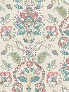 Sage Hill Wallpaper Book By Chesapeake Motif Design, Surface Pattern Design, Mandala Design, Batik Pattern, Pattern Art, Print Patterns, Kids Blouse Designs, Chintz Fabric, Wallpaper Backgrounds