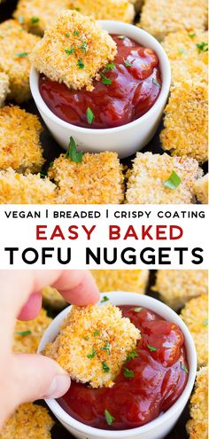 These baked tofu nuggets are easy to make and they get crispy in the oven. They make the best kid food! These baked tofu nuggets are easy to make and they get crispy in the oven. They make the best kid food! Vegan Appetizers, Vegan Snacks, Vegan Dinners, Tofu Meals, Vegan Sweets, Weeknight Dinners, Whole Food Recipes, Healthy Recipes, Vegetarian Kids Recipes
