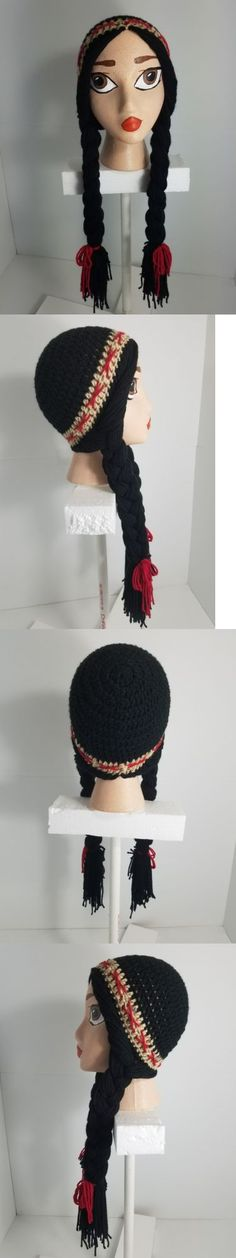 Hats 15630: Handmade Crochet Disney Pocahontas Inspired Wig Beanie With Handpainted Head -> BUY IT NOW ONLY: $39.95 on eBay!