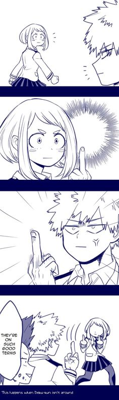 Uraraka and Bakugou  BNHA