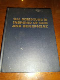 Watchtower All Scripture Is Inspired Of God & Beneficial First Print 1963 HC