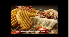 Mediterranean Chicken Pizza with French Fries on Top