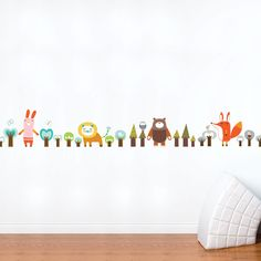 Fab.com   Forest Friends Decal Multi