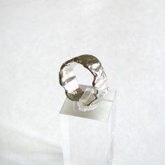 Organic Wedding Band Sterling Silver Ring Metalwork by LulyJewelry, $72.00
