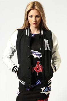 Emma PU Sleeve Preppy Baseball Jacket >> http://www.boohoo.com/restofworld/collections/tv-advert/icat/tv-advert/tv-advert/emma-pu-sleeve-preppy-baseball-jacket/invt/azz53446#