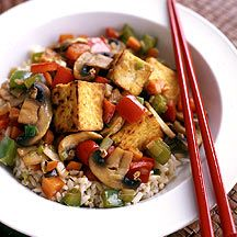 WW Tofu and Veggie Stir Fry - katie and patrick - I can always rely on Amanda to pin me some vegan food for me.