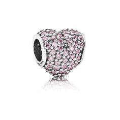 $16.99 (RG1994) Pandora Pink Pave Heart Charm code: Pandora 376 Save: 93% off