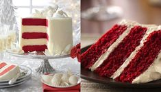 Velvet Cake, Red Velvet, Tacos, Vanilla Cake, Raspberry, Wedding Cakes, Fruit, Desserts, Christmas