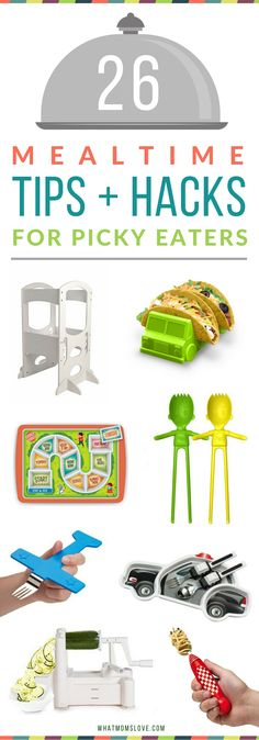 Amazing tricks and tips for kids who are picky eaters. Use these fun products to help your kids eat healthy meals without a fuss!