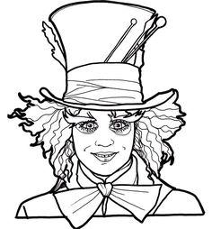 Coloriage Alice Au Pays Des Merveilles Le Film à colorier - Dessin à imprimer