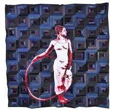 """Luke Haynes quilt, in: """"Man-Made: Contemporary Male Quilters"""" at LA's Craft and Folk Art Museum. Urban Outfitters - Blog."""