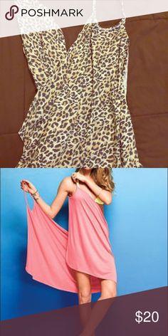 Leopard print bathingsuit cover up. Leopard print bought but never worn! Super soft more of a mini look. Cute! Victoria's Secret Swim Coverups